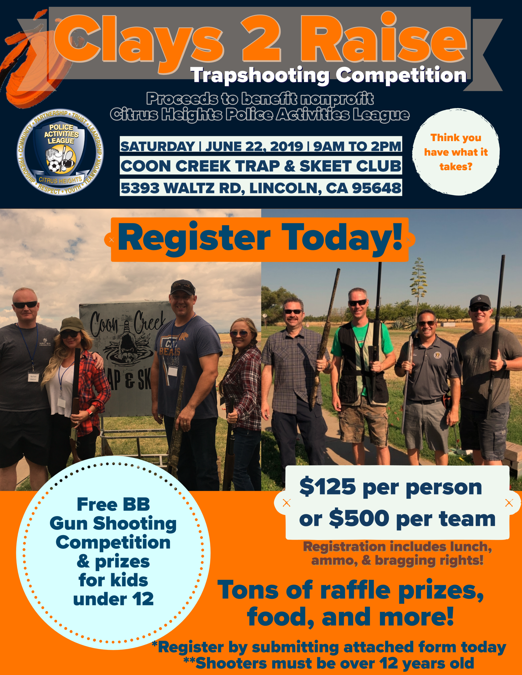 Clays2Raise Trapshoot Flyer 2019