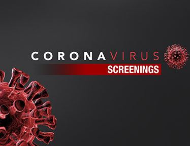 "image that says ""COVID-19 Screening"""