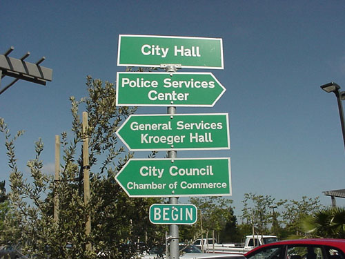 Civic Center Building Signs